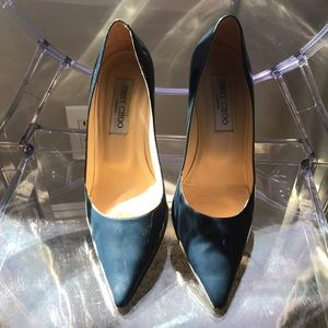 Jimmy Choo navy patent pump